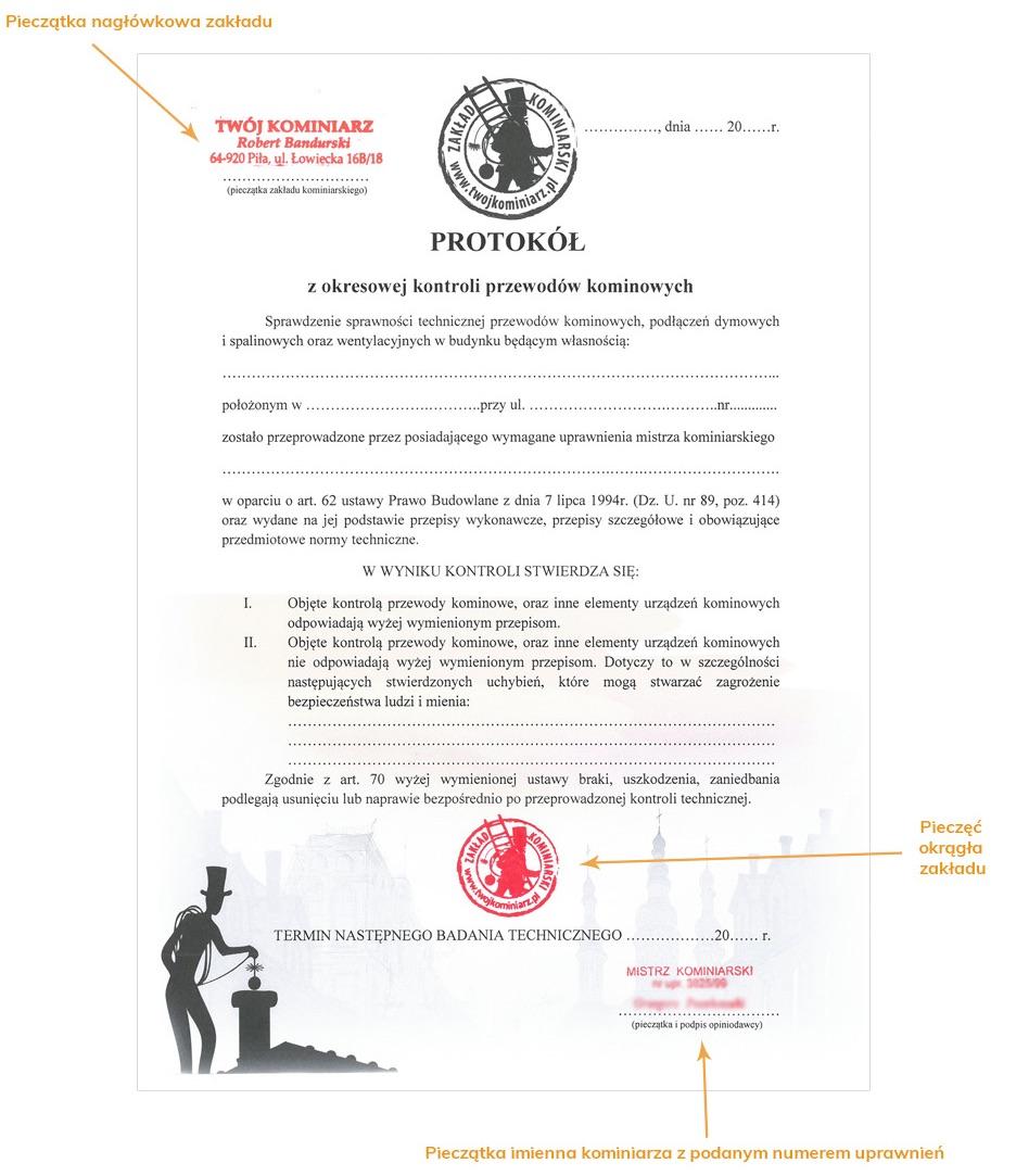 Dokumenty kominiarskie